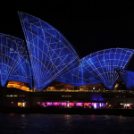 sydney opera house geometric projection