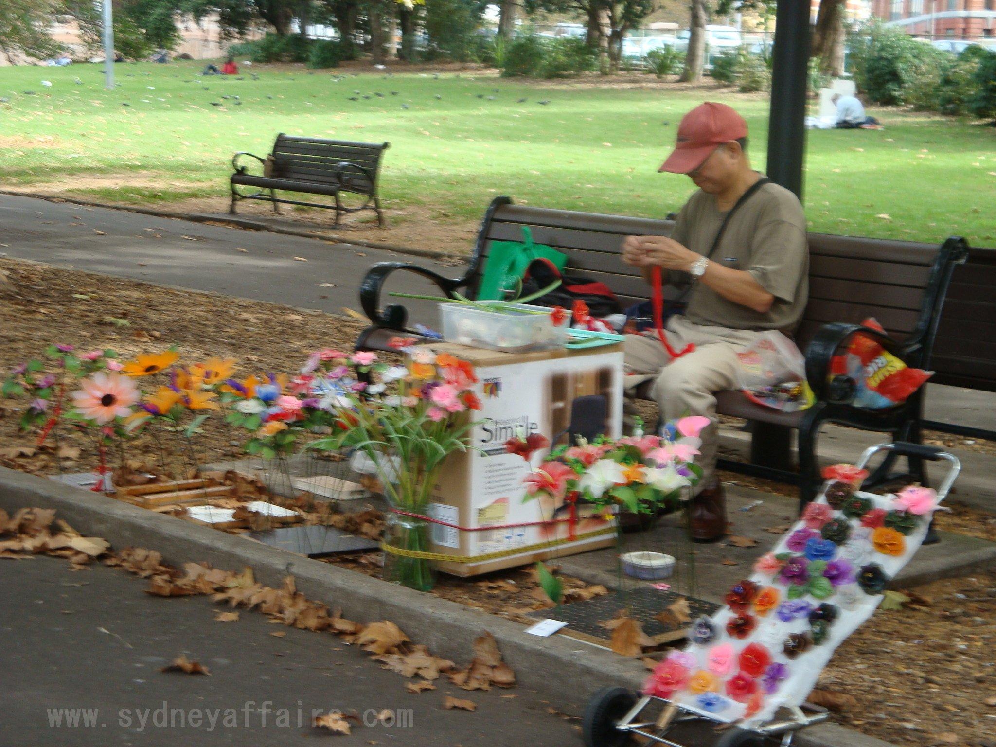 Belmore Park Sydney park vendor