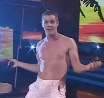 Johnny Ruffo  stripped off for Tonight Tonight  X factor Australia 2011