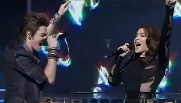 Reece Mastin duet with Kylie Minogue  X Factor Australia 2011 Grand Final show