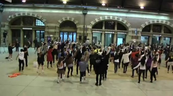 Flash Mob Dance at Central Station Sydney