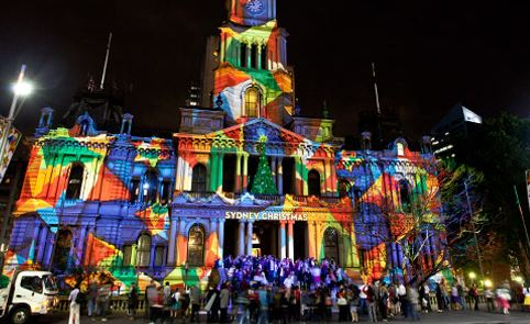 Lights of Christmas at the St Marys Cathedral Sydney