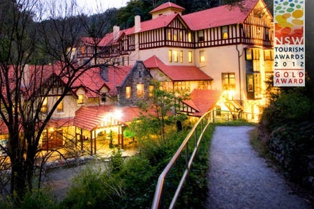 Blue Mountains, NSW: One-Night Stay for Two in a Mountain Lodge Room with Nettle Cave Tour and Breakfast at the Award-Winning Jenolan Caves