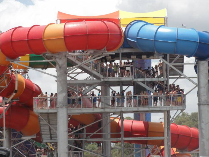 Wet and wild Sydney giant water rides queue