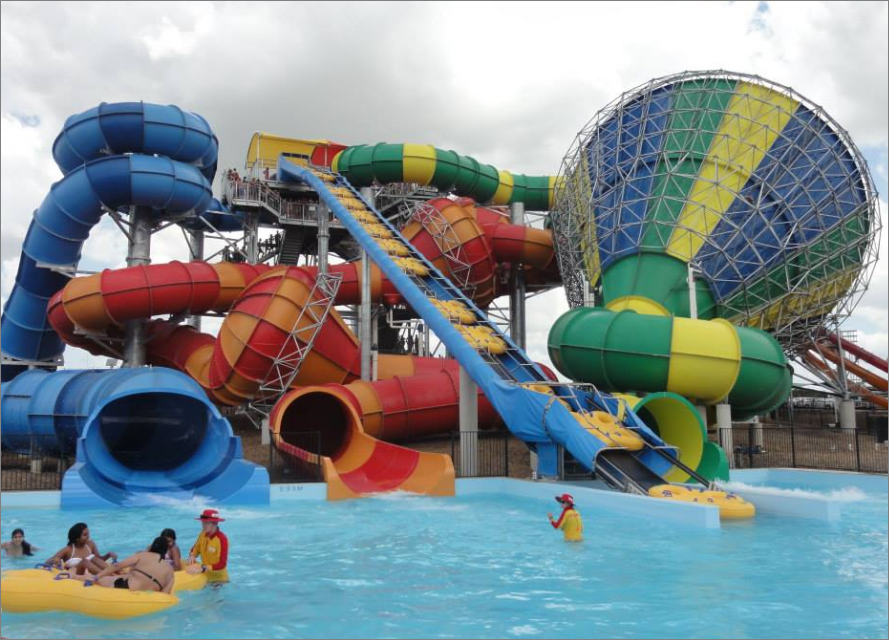 Wet and wild Sydney giant water slides