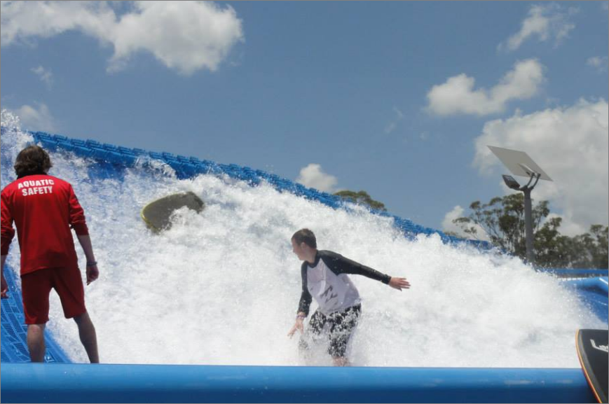 Wet and wild Sydney giant water waterboarding
