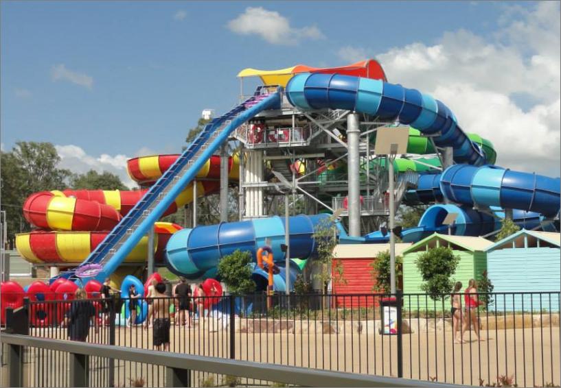 Wet and wild Sydney park giant slides 2