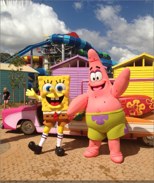 Wet and wild Sydney spongebob opening Day