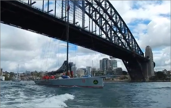 wild oats XI harbour Bridge sydney to hobart 2013
