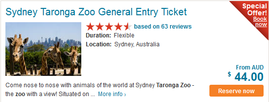 taronga zoo sydney tickets
