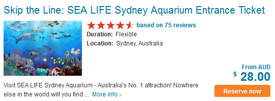 SEA LIFE Sydney Aquarium Entrance Ticket