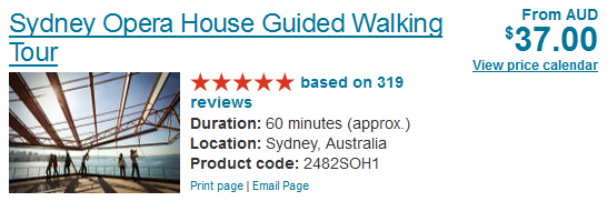 Sydney Opera House Guided Walking Tour tickets discount