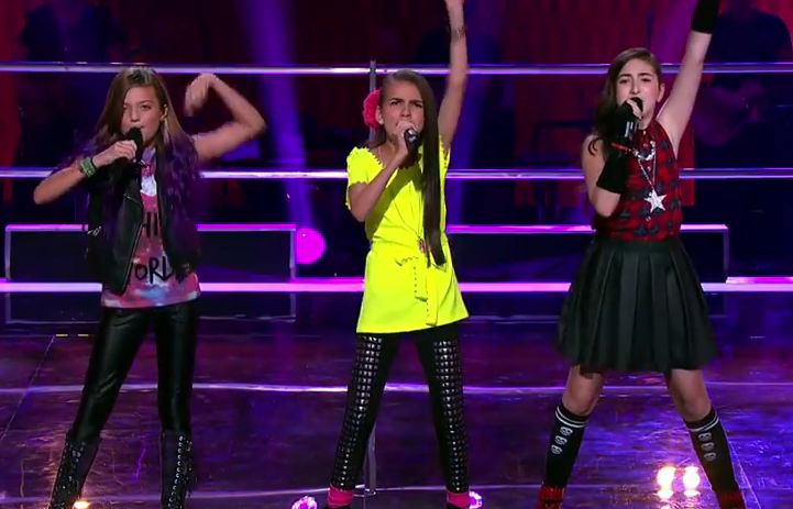 Eve, Belinda Jo and Adina Sing Wings The Voice Kids Australia 2014