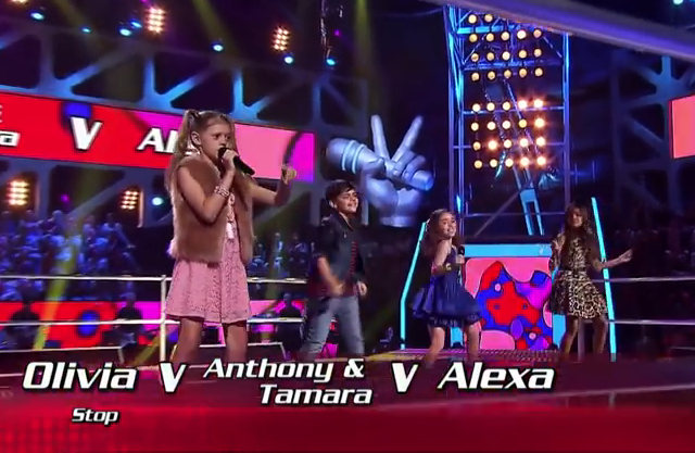 Olivia, Anthony & Tamara and Alexa Sing Stop The Voice Kids Australia 2014