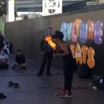 Sydney Street Baskers Darling Harbour Fire Eater