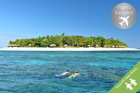 Fiji: From $1,249 for a 5-Night Escape to a Fijian Island Bure with Flights, Drink and Canape at Treasure Island Resort