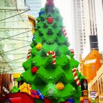 Giant LEGO Christmas Tree Pitt Street Mall Sydney Australia