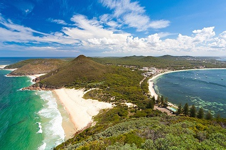 Hawks Nest: From $179 for Beach Escape with Wine, Chocolates and Bike and Surfboard Hire at Oceanside Hawks Nest