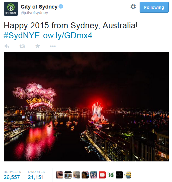Sydney New Years Eve 2015 Fireworks display
