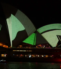 Sydney Opera House Lighting the Sails 2015 Living Mural