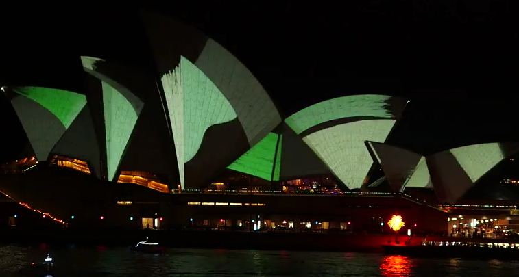 Sydney Opera House Lighting the Sails 2015 Living Mural