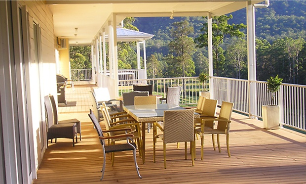 forster nsw Country Retreat with Bottle of Wine and Late Checkout at Clarendon Forest Retreat