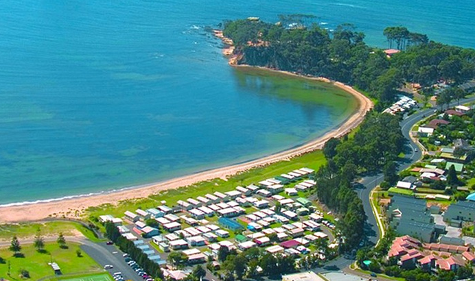 Batemans Bay From $297 for a Beachfront Getaway for Four People in a Two-Bedroom Park Villa at Clyde View Holiday Park