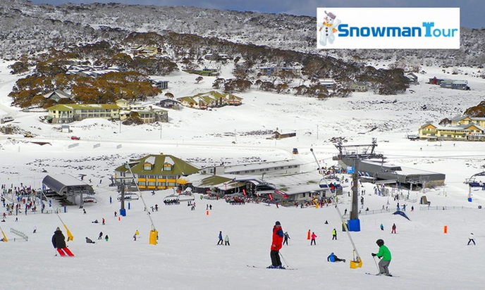 Jindabyne $99 Per Person for an Express Perisher Ski Tour with National Park Entry Fee with Snowman Tour Perisher