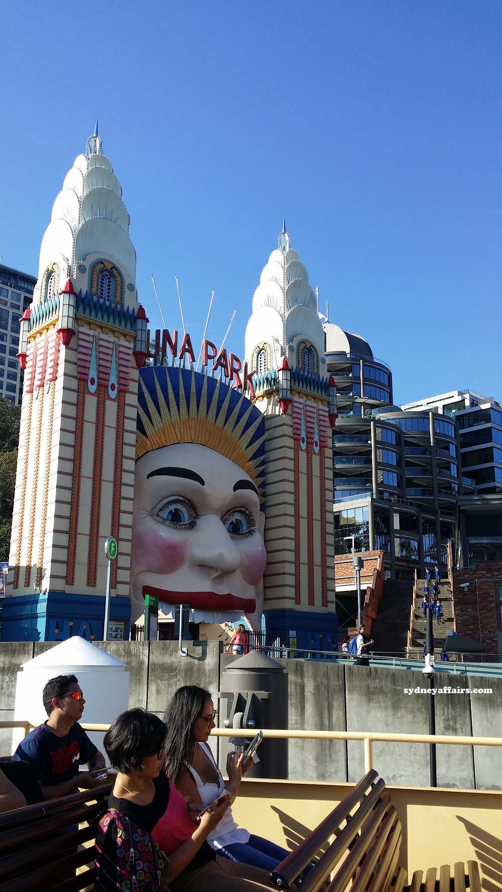 Sydney Harbour Luna Park Entrance Gate
