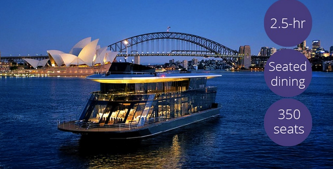 2.5-Hour Vivid Cruise with Buffet Dinner for a Child ($59) or Adult ($79) with Starship Sydney