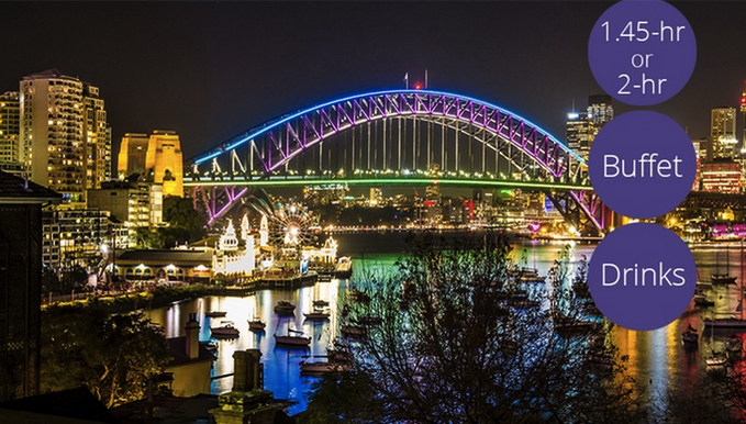 From $29 for a Vivid Sydney Harbour Cruise with Drink and Light Meal with Sydney Princess Cruises